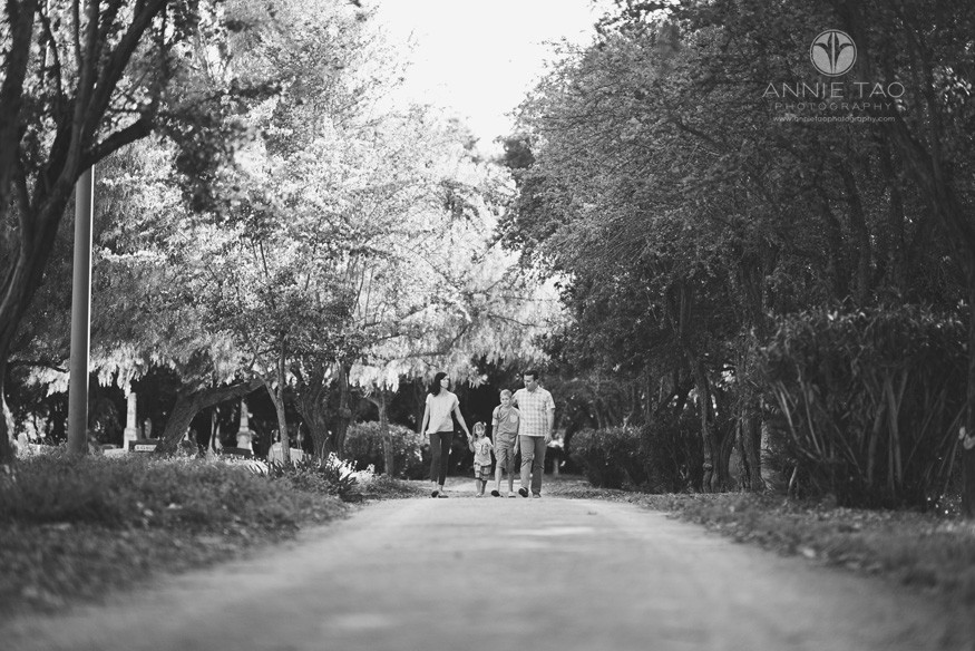 East-Bay-lifestyle-family-photography-family-walking-down-a-dirt-path-in-a-cemetary-BxW