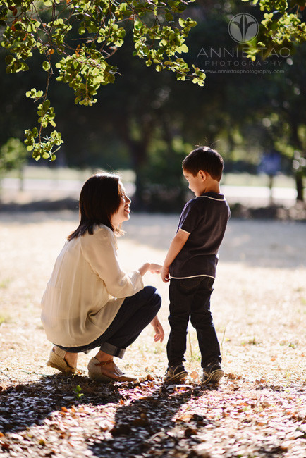 Bay-Area-lifestyle-family-photography-mother-knelt-down-to-talk-to-son