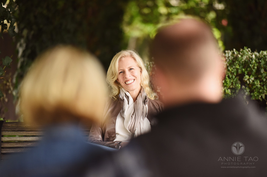 bay-area-los-altos-lifestyle-family-photography-woman-smiling-at-her-family-on-bench