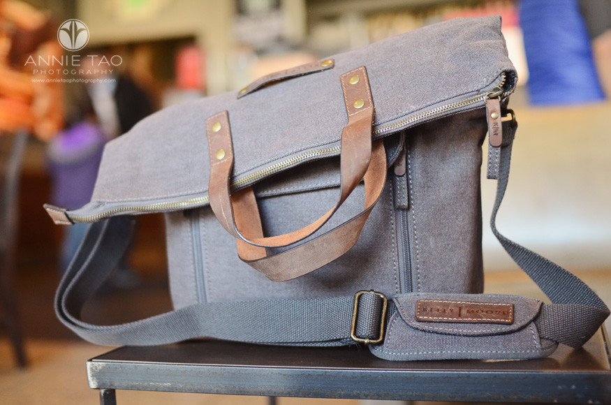east-bay-lifestyle-product-photography-km-camera-bag-in-coffee-shop-full-shot