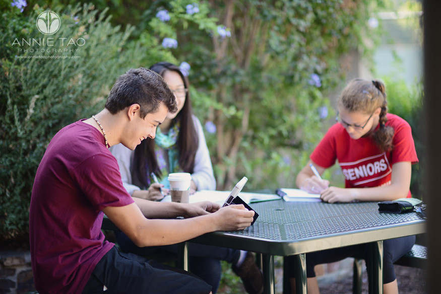 Bay-Area-Los-Altos-Commercial-Photography-high-school-students-studying-on-outdoor-table