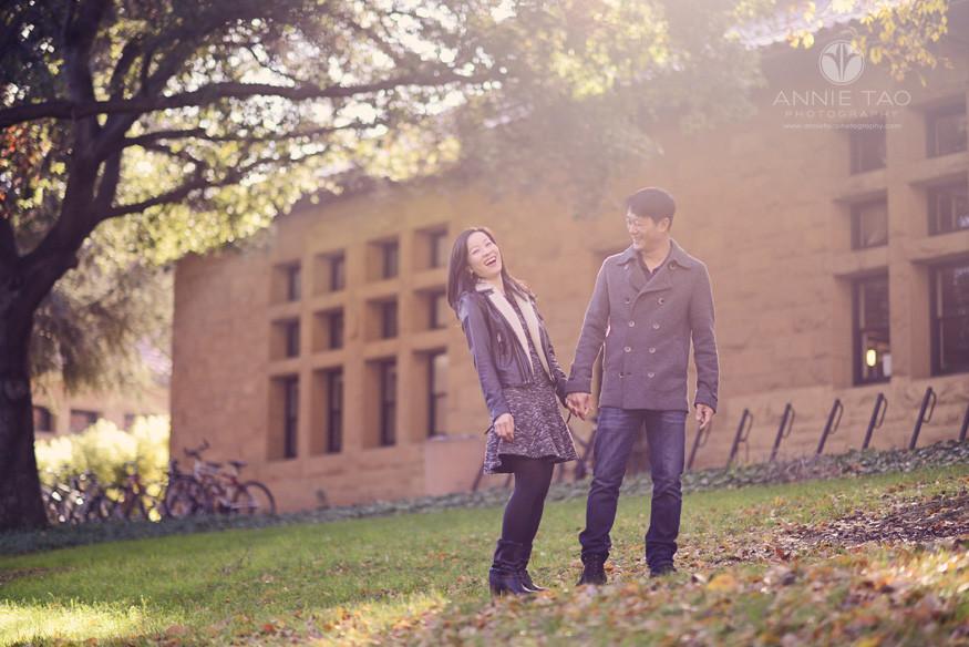 Bay-Area-Palo-Alto-lifestyle-couple-photography-couple-cracking-up-under-warm-hazy-sunlight