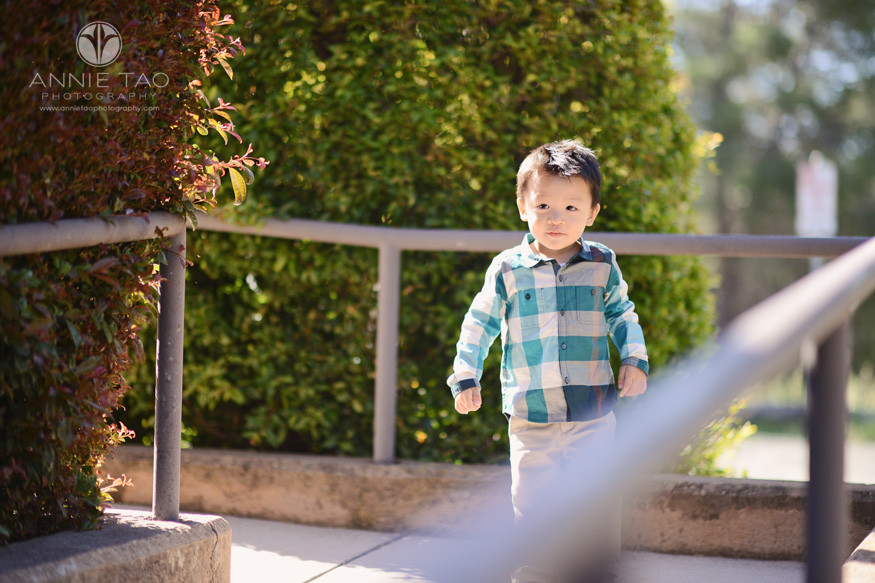 Bay-Area-lifestyle-children-photography-toddler-boy-on-ramp-with-gorgeous-light