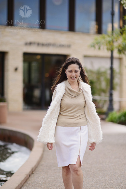 East-Bay-lifestyle-photography-woman-in-neutral-outfit-walking-at-shopping-mall