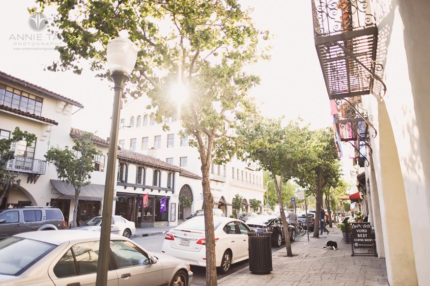 San-Francisco-Bay-Area-lifestyle-photography-morning-sun-in-downtown-Palo-Alto