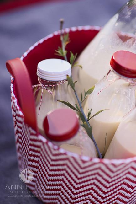 East-Bay-lifestyle-photography-basket-filled-with-bottles-of-eggnog