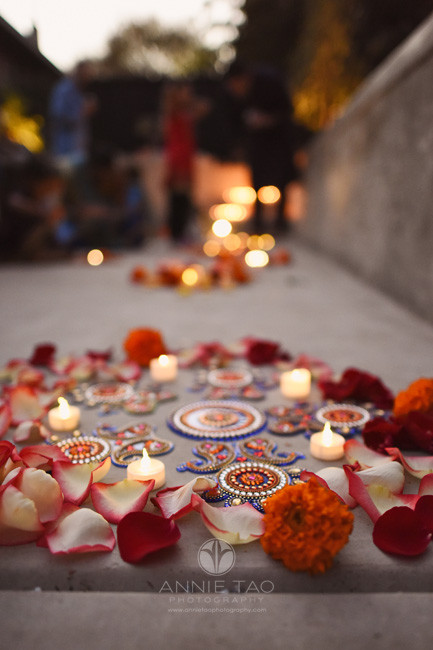East-Bay-event-photography-diwali-celebration-at-night-closeup-of-rangolis