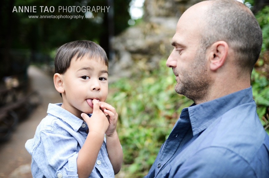 Berkeley-lifestyle-family-photography-boy-wiping-tongue-after-licking-dad