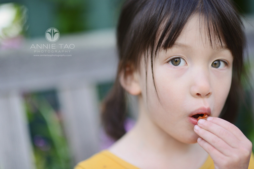 Bay-Area-lifestyle-children-photography-preschooler-girl-eating-closeup