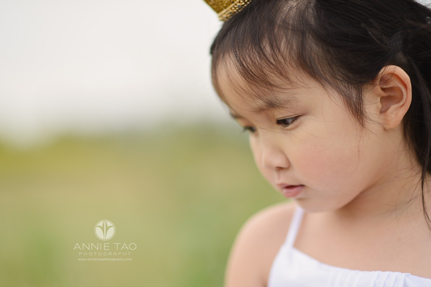 East-Bay-styled-children-photography-pink-princess-looking-down-closeup