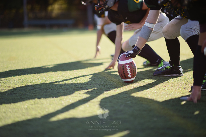 Bay-Area-Los-Altos-Commercial-Photography-high-school-football-team-starting-position-focus-on-ball