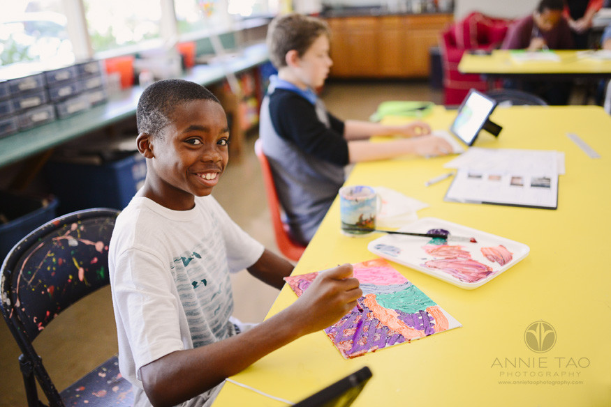Bay-Area-Los-Altos-Commercial-Photography-student-painting-in-Art-class