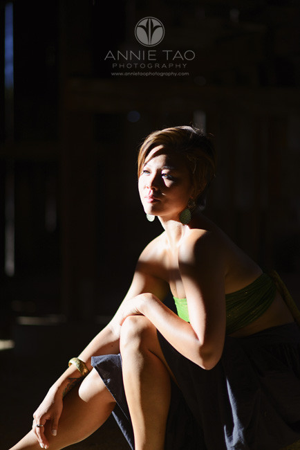 East-Bay-styled-photography-woman-with-short-hair-in-shadows