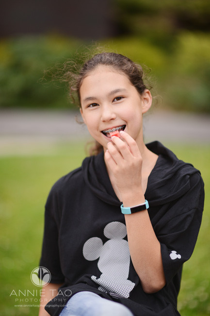 San-Francisco-lifestyle-children-photography-girl-with-braces-about-to-chew-gum