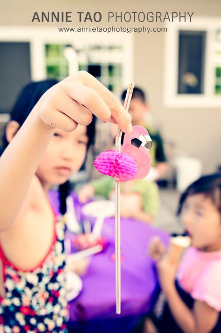 Bay-Area-Childrens-Birthday-flamingo-straw-closeup