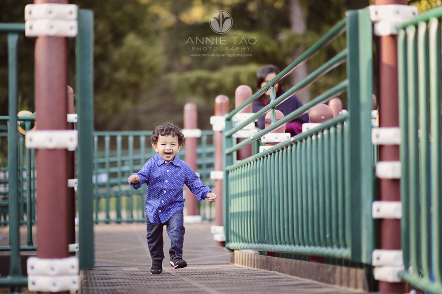 east-bay-lifestyle-children-photography-toddler-boy-laughing-while-running-on-playstructure