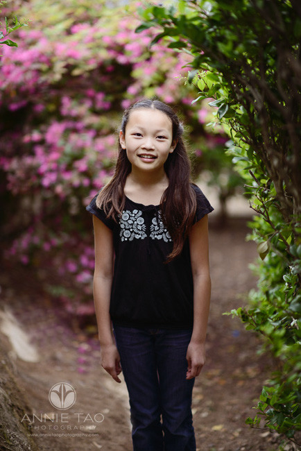 San-Francisco-lifestyle-children-photography-girl-standing-between-bushes