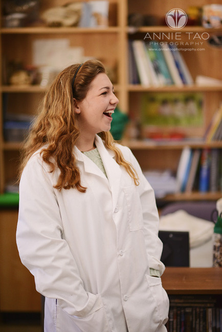 Bay-Area-Los-Altos-Commercial-Photography-laughing-girl-wearing-lab-coat