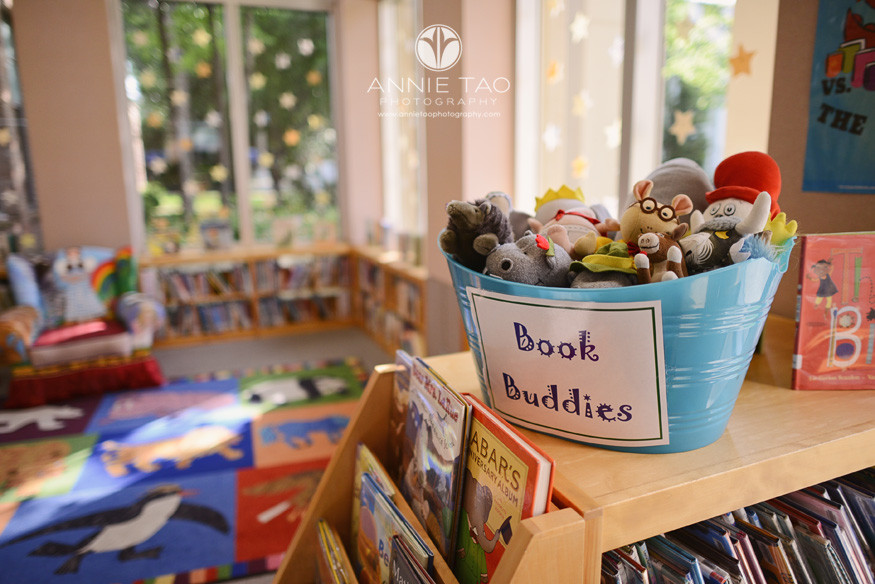 Commercial-education-photography-basket-of-book-buddies-in-library