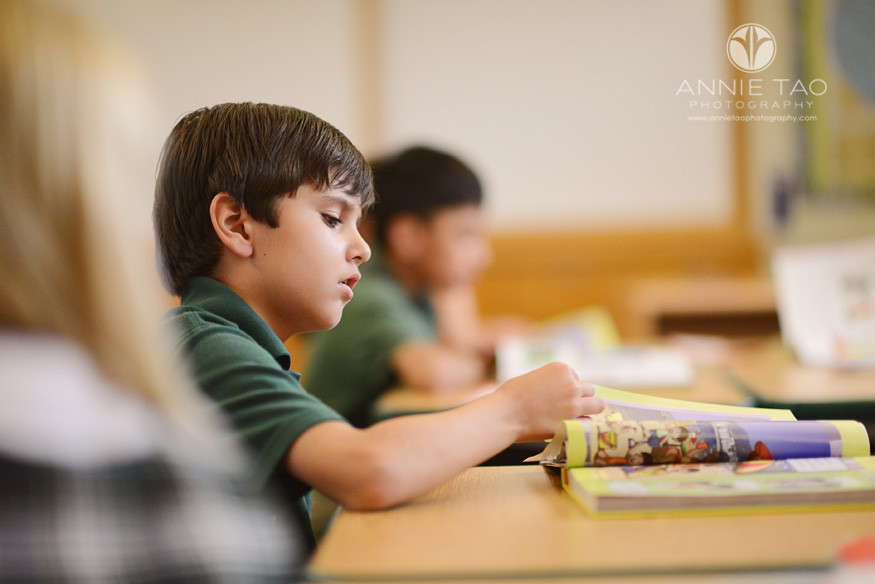 Bay-Area-Los-Altos-Commercial-Photography-students-boy-reading-textbook
