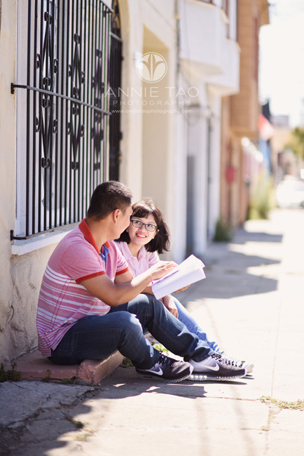 San-Francisco-commercial-photography-City-College-husband-and-wife-students-sitting-on-step-2