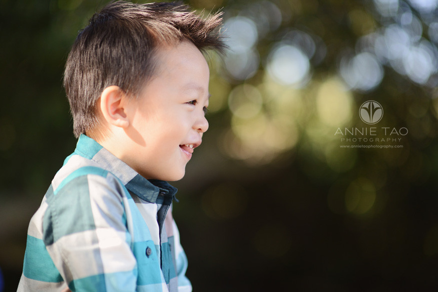 Bay-Area-lifestyle-children-photography-toddler-boy-laughing-profile-view