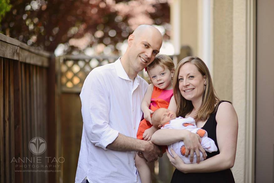 East-Bay-lifestyle-family-photography-family-of-four-in-front-of-their-home