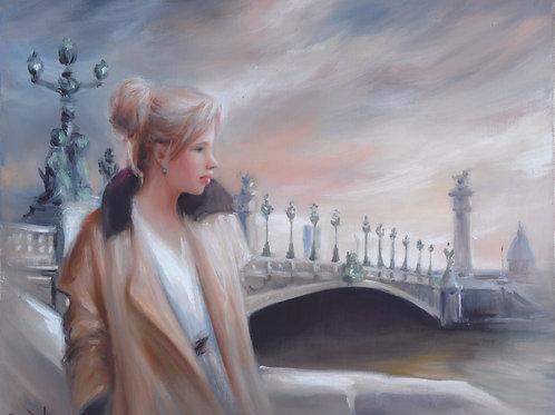 アレクサンダーⅢ世橋の少女
