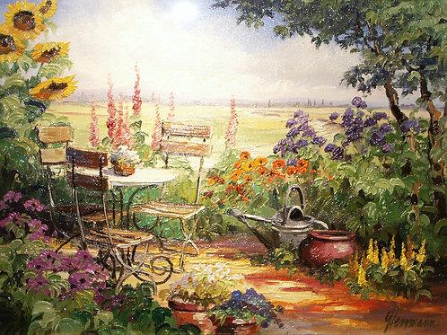 庭のテーブル 30x40㎝
