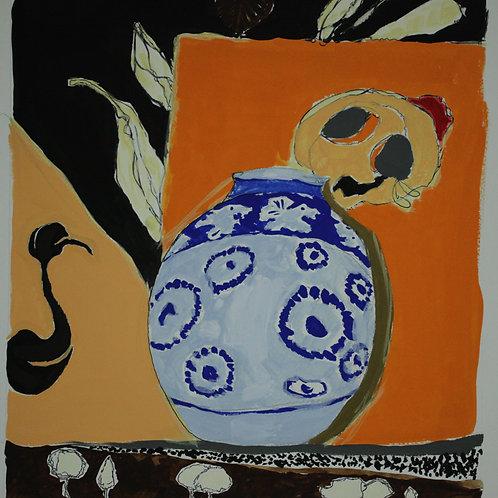 スペインの花瓶    (グアッシュ)