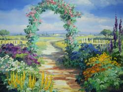 庭のアーチ