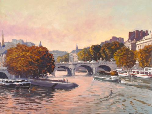 パリのポン・ヌッフの朝