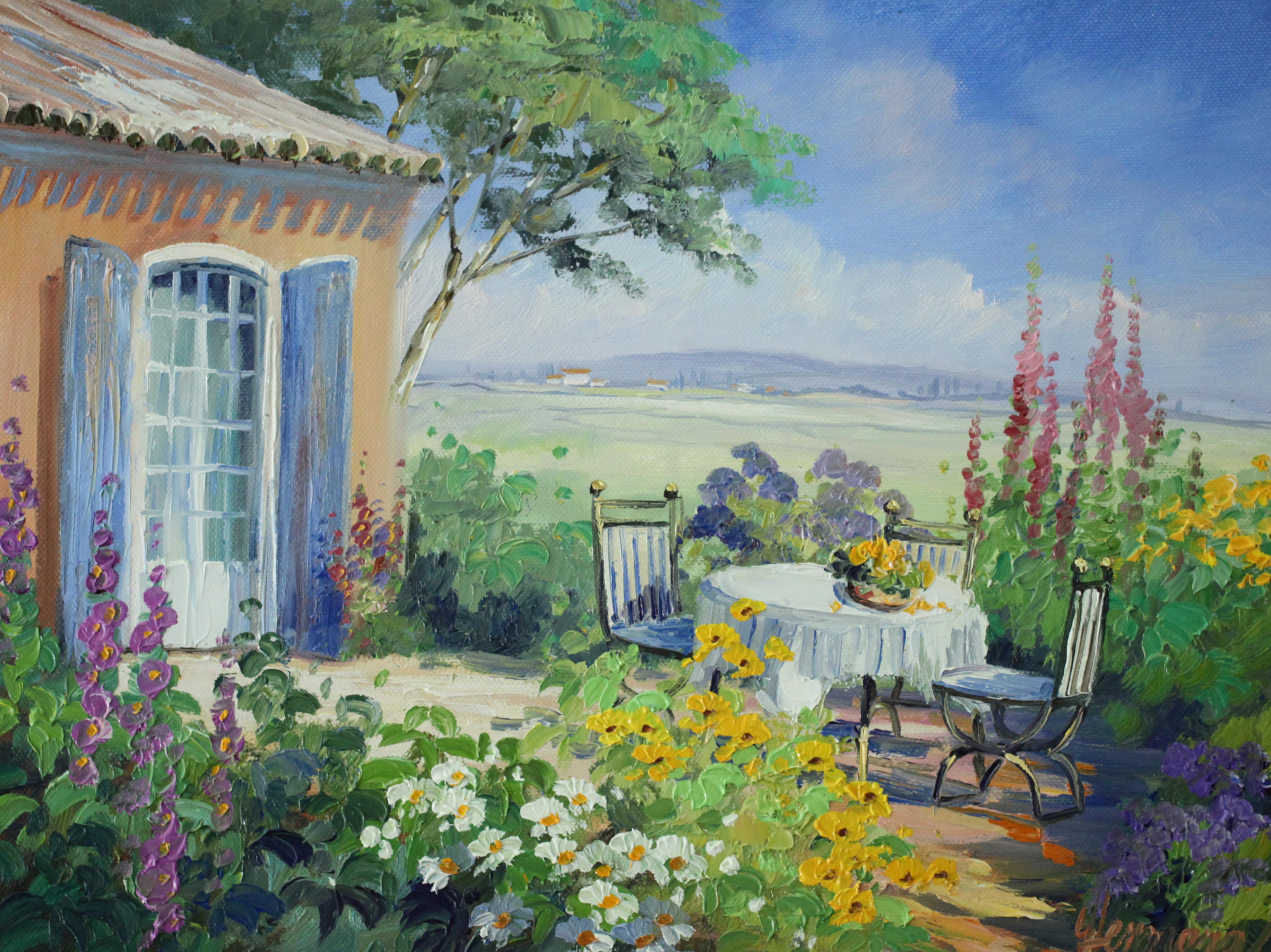 庭のテーブルクロス