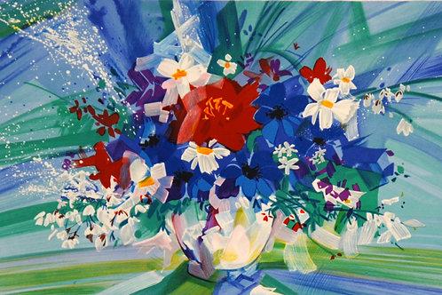クロード・マルス 丸い花瓶のブーケ