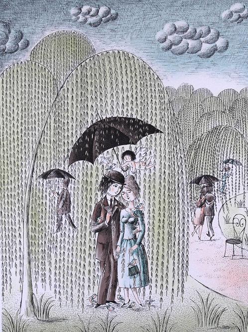雨に濡れても