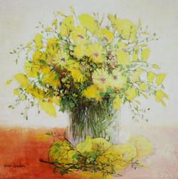 Jean Godain     Bouqet jaune 30x30㎝
