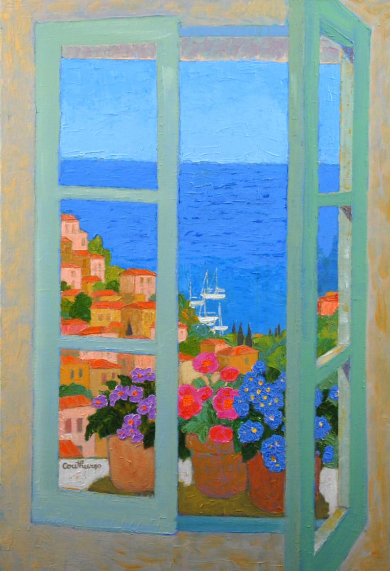 窓の外の地中海