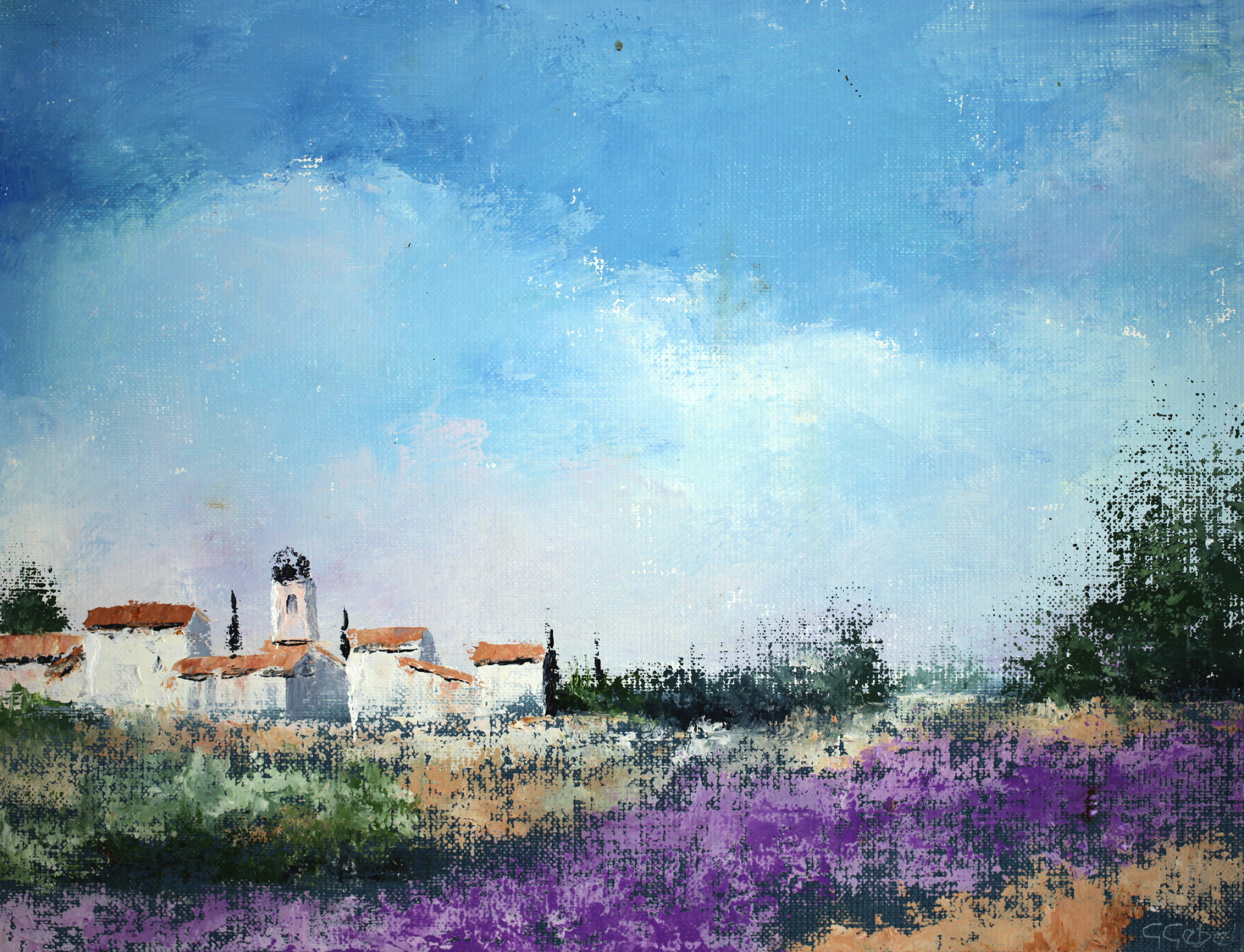 Gerard Gebel     Paysage de Provence