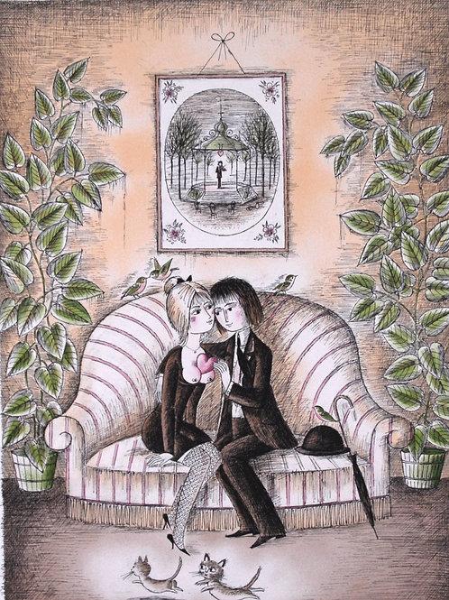 愛のソファー