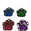 Thumbnail: Glitter Paw Shape Pet Tag - Various Colours