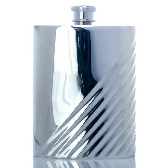 Pewter Hip Flask - 6oz Lined Design