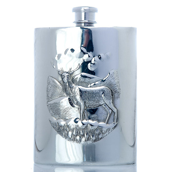 Pewter Hip Flask - 6ozStag