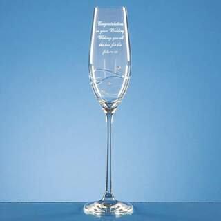 Champagne Glass Spiral Diamante Design