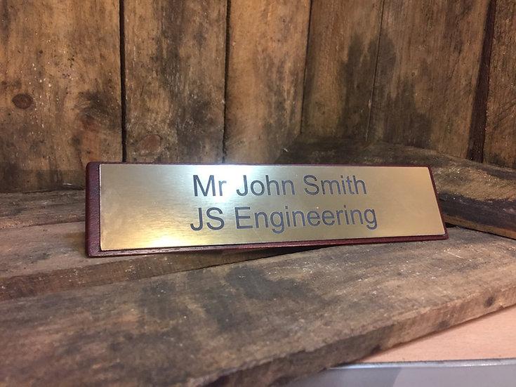 Wooden Desk Plaque