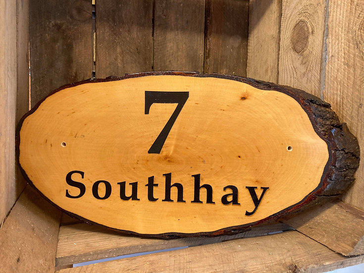 Rustic Wooden House Sign