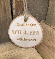 Rustic Wood Slice 7cm (price includes engraving)