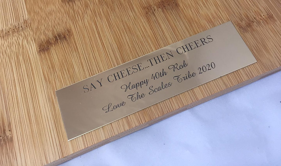 Indoor Brass Plaque - Click for more details