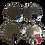 Thumbnail: Pet Tag 30mm Disc Paw Design with Diamantes - Various Colours