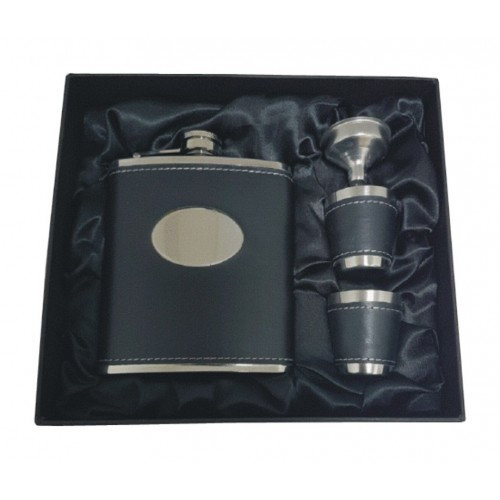 7oz Stainless Hip Flask in Gift Box with Funnel & Cups
