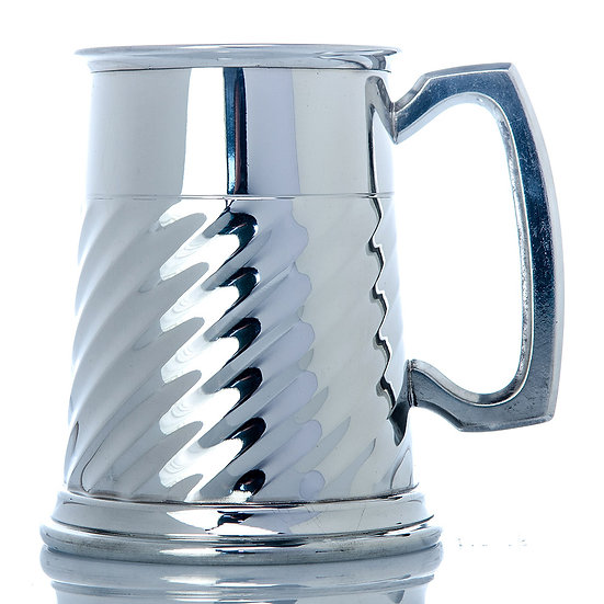 Pewter One Pint Tankard - Standard Fluted
